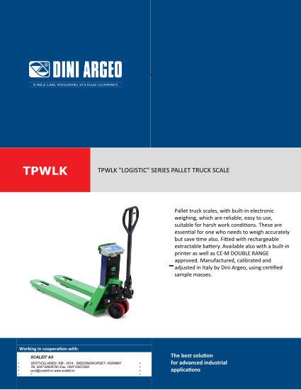 Datablad TPWLK Cover