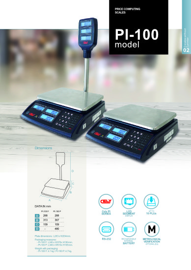 Dibal PI-100 butikkvekt pdf-cover