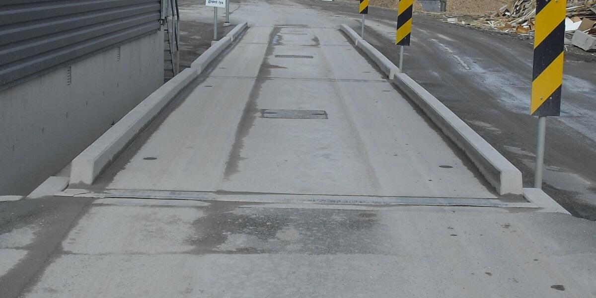 Bilvekt av betong