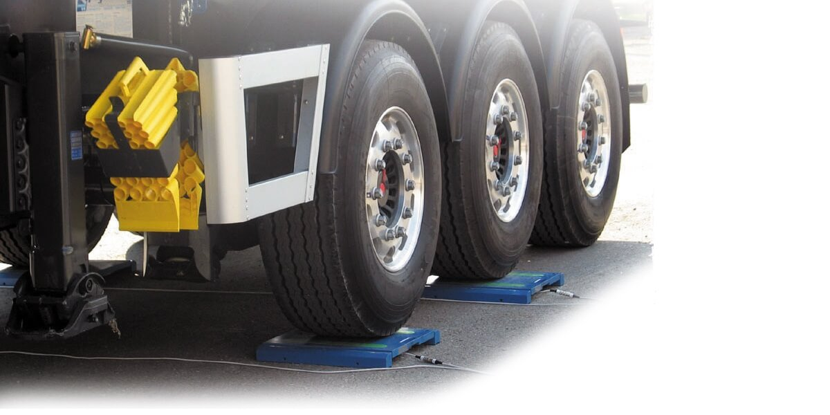 Mobil veieplattform - hjultrykksvekt